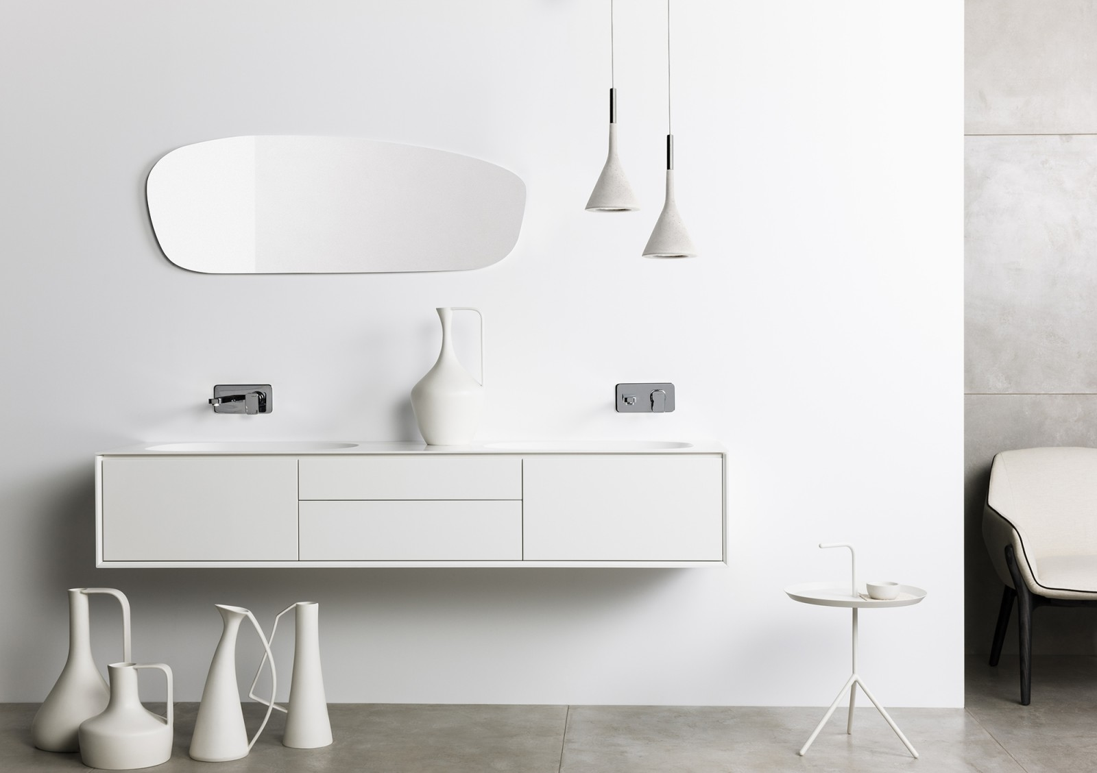 Reece Bathroom Furniture. Designer vanity, vanities designed by Geoff Wormald at Open Sky. Interior photography in studio in Leichhardt. Interior Sydney photographer Michelle Young photography with...