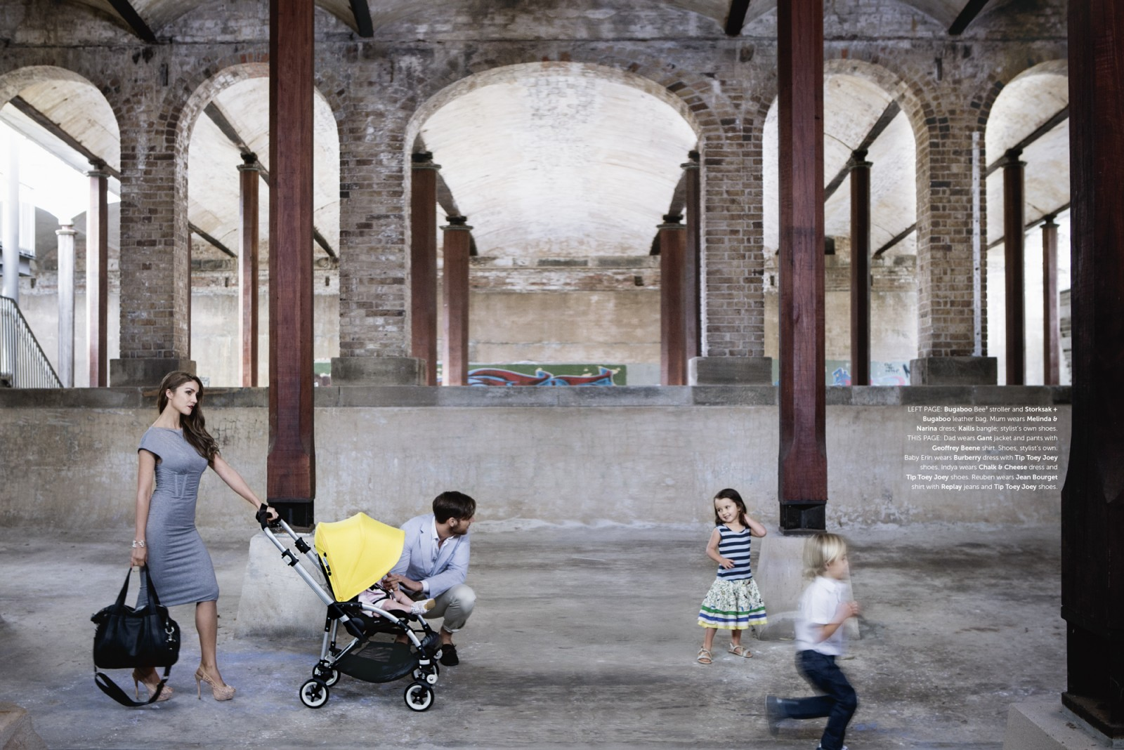 Latest Studio Bambini kids fashion editorial photographed by Michelle Young kids and babies fashion advertising photographer. Photographed on location at Paddington Reservoir for kids fashion...