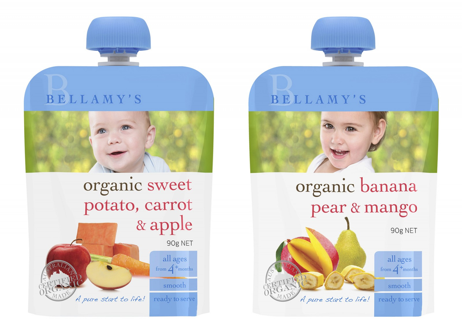 Latest packaging photography work for Bellamys Organic photographed in our Sydney studio in Leichhardt using amazing kids and baby talent from Cute Kids and Bambini Talent Group. All portraits...