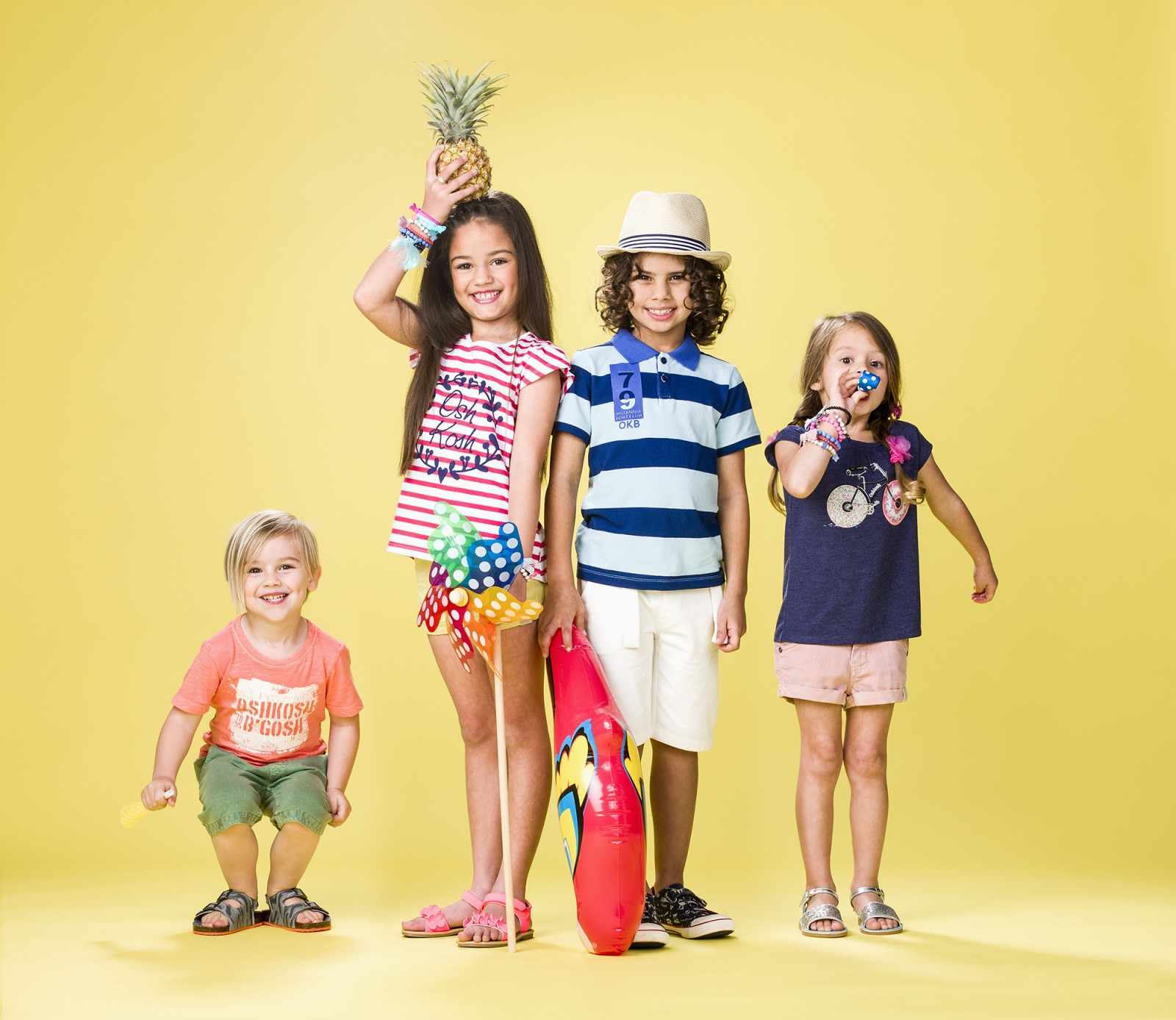Sydney kids fashion photographer Michelle Young shoots Osh Kosh Australia in studio for Osh Kosh kids and childrens fashion for Summer 2015. Mix and Match for summer 2015 with Osh Kosh boys and girls...