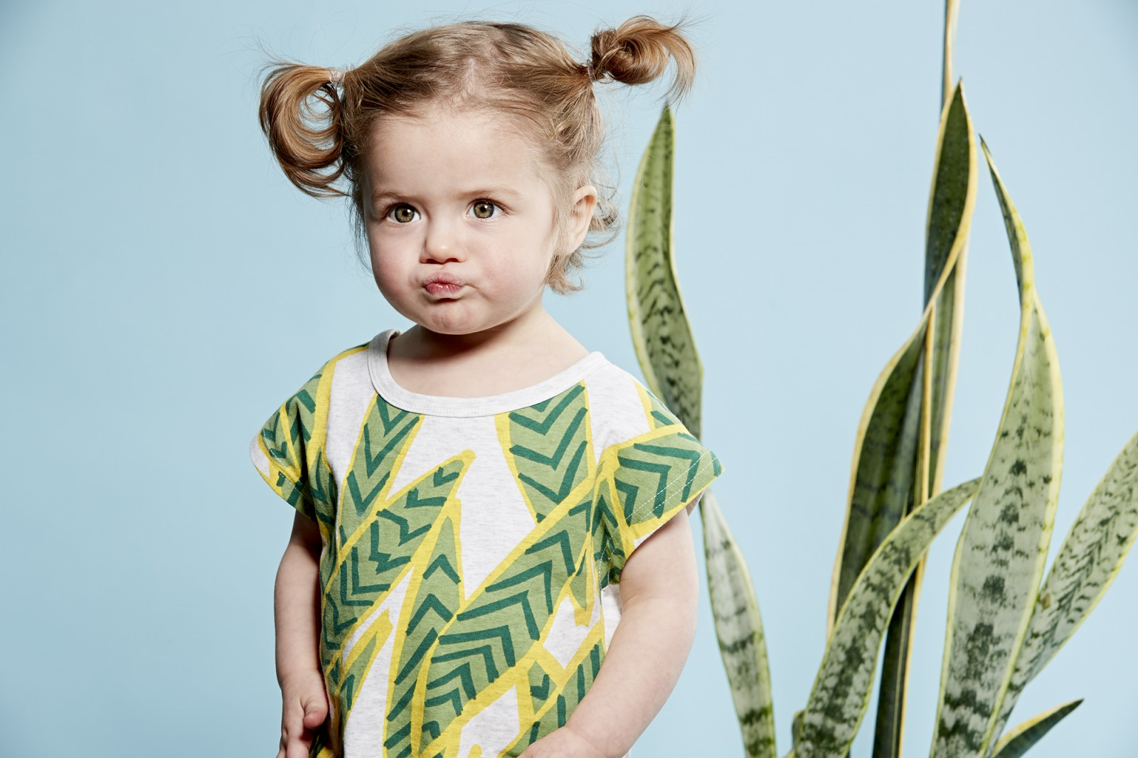 Andie photographed for Tiny Tribe Fashion pages by Michelle Young, kids fashion and lifestyle photographer. Shot in studio.